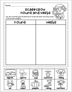 Emergency Sub Plans-First Grade Scarecrow Packet!