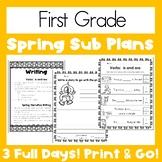 Emergency Sub Plans   First Grade   Spring