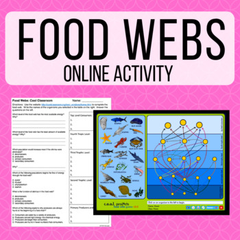 Emergency Sub Plans: Food Webs Webquest