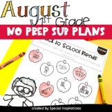 Emergency Sub Plans For 1st Grade (August)
