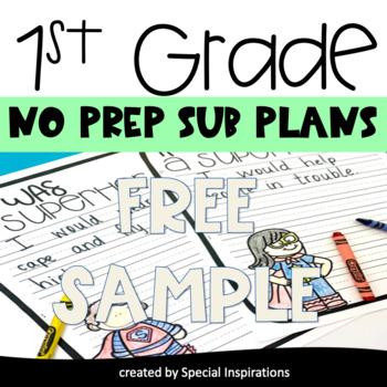 Emergency Sub Plans For 1st Grade (Free Sample)
