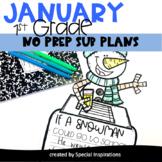 Emergency Sub Plans For 1st Grade (Winter)