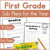 Emergency Sub Plans   First Grade Bundle   Back to School