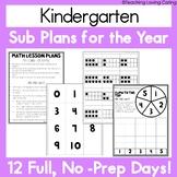 Emergency Sub Plans For the Year   Kindergarten Bundle   B