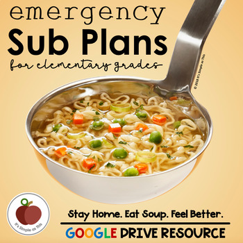 Emergency Sub Plans - Google Drive Resource - Sub Plans - Substitute - Sick Day