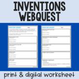 Emergency Sub Plans: Inventions Webquest