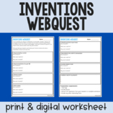 Emergency Sub Plans: Inventions Webquest