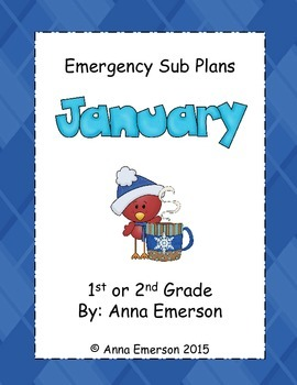 Emergency Sub Plans: January for 1st and 2nd Grade