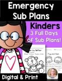 Emergency Sub Plans Kindergarten