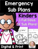 Distance Learning Emergency Sub Plans Kindergarten
