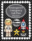 Emergency Sub Plans-Kindergarten A Trip Into Space!