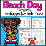 Emergency Sub Plans-Kindergarten Beach Day!