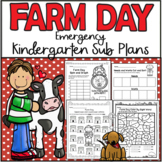 Emergency Sub Plans-Kindergarten Farm Day!