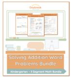 Emergency Sub Plans: Kindergarten Math: Addition Word Problems within 10