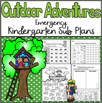 Emergency Sub Plans-Kindergarten Outdoor Adventures!