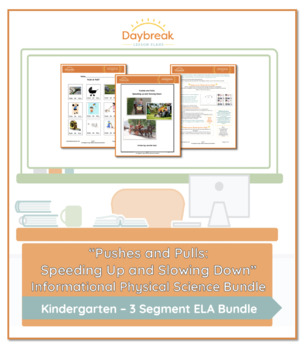 Emergency Sub Plans: Kindergarten: Pushes and Pulls: ELA & Physical Science