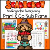 Emergency Sub Plans-Kindergarten Scarecrow Packet!