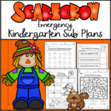 Emergency Sub Plans-Kindergarten Scarecrow Packet!