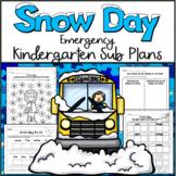 Emergency Sub Plans-Kindergarten Snow Day