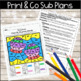 Emergency Sub Plans-Kindergarten Snowman Packet!