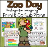 Emergency Sub Plans-Kindergarten Zoo Day!