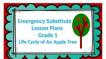 Emergency Sub Plans -Life Cycle of An Apple Tree
