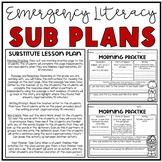Emergency Sub Plans (Literacy Grades 3-5)