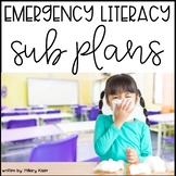 Emergency Sub Plans (Literacy Grades 3-5) Distance Learning