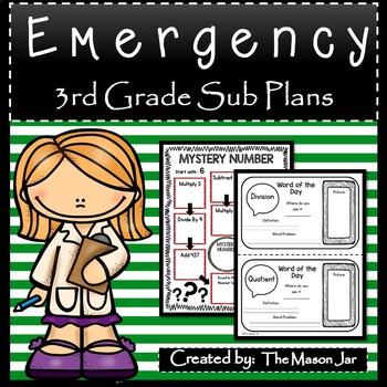 Emergency Sub Plans (Math 3rd Grade) No Prep