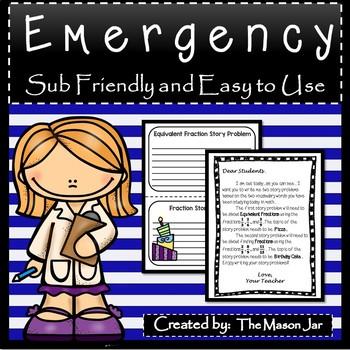 Emergency Sub Plans (Math 4th Grade) No Prep