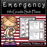 Emergency Sub Plans (Math 5th Grade) No Prep