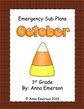 Emergency Sub Plans: October for First Grade
