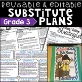 Emergency Sub Plans Grade 3 Editable