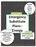 Emergency Sub Plans - Science and Literacy - Energy