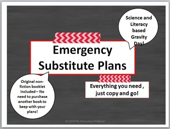 Emergency Sub Plans - Science and Literacy - Gravity