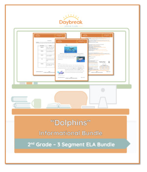Emergency Sub Plans: Second Grade: ELA Dolphins