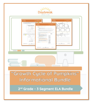 Emergency Sub Plans: Second Grade: ELA Informational: Growth Cycle of Pumpkins