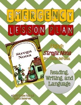 Emergency Sub Plans - Strega Nona ELA