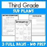 Emergency Sub Plans   Third Grade   Back to School