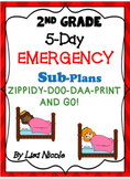 Emergency Sub Plans Bundle for 2nd Grade (5 days)