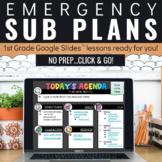 Emergency Sub Plans for 1st Grade | Digital | Virtual | Google Classroom