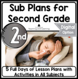 Emergency Sub Plans for 2nd-3rd-Grade Teachers Bundle