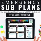 Emergency Sub Plans for 2nd Grade - SET 2   Digital Sub Pl