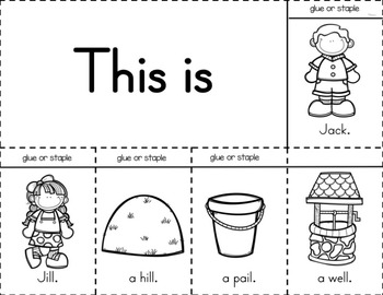 Sub Plans for Jack and Jill (Kindergarten Sub Plans)
