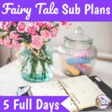 Emergency Sub Plans for Kindergarten 5 Full Days