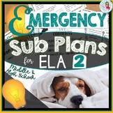 Sub Plans | Emergency Lessons | English Language Arts
