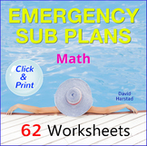 Emergency Sub Plans for Math