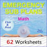 Emergency Sub Plans for Math