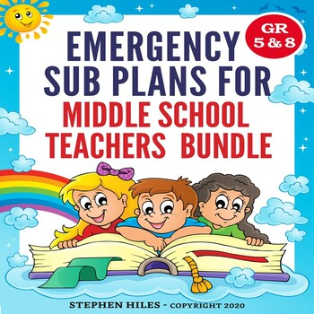 Emergency Sub Plans for Middle School Teachers (Bundle)