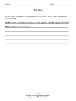 Emergency Sub Plans for Middle School Teachers (Bundle)